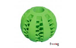 """Brinquedo Cão """"Bola com Verde""""(c/dentes)"""
