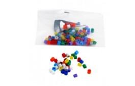 Anilhas Plástico p/ Canários 3mm Multicolor - 100 Unidades