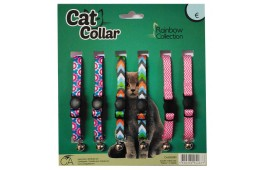 """Coleiras Gato """"Rainbow"""" - Expositor 6 Unidades"""