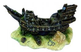 Decoração Aquário Ship