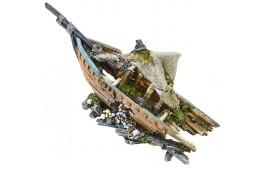 """Decoração Aquário """"Bow Sunken Ship"""""""