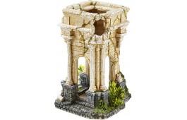 "Decoração Aquário ""Ancient Roman Column Plants"""